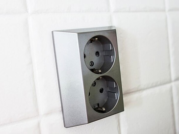 Kitchen light switches and sockets