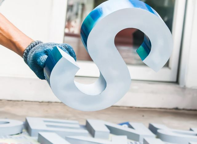 Painted letter