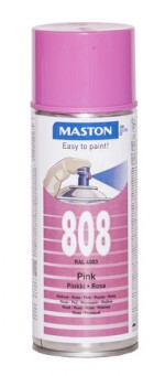 Spraymaali 100 - Pink 808 400ml RAL4003