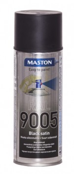 Spraypaint RAL 9005 Black satin 400ml