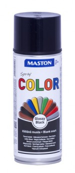 Spraypaint Color Black Gloss 400ml