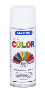Spraypaint Color White Gloss 400ml