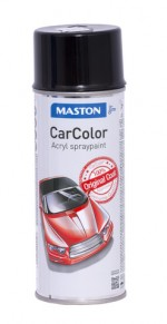 Spraymaali CarColor 0122 kiilt.musta 400ml