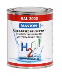 Paint H2O! RAL3000 Flame red 1l