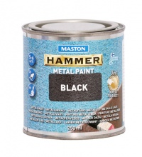 Paint Hammer Hammered Black 250ml