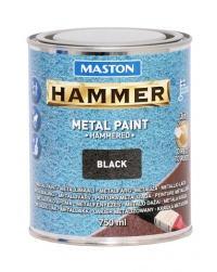 Paint Hammer Hammered Black 750ml