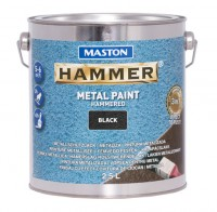 Paint Hammer Hammered Black 2,5l