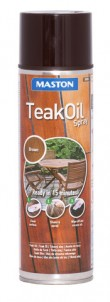 Teak Oil spray 500ml brown