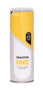 Spraypaint ONE - Satin Bright Yellow RAL1021 400ml