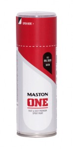 Spraypaint ONE - Satin Red RAL3020 400ml