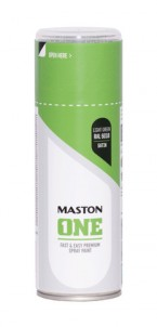 Spraypaint ONE - Satin Light Green RAL6018 400ml