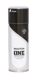 Spraymaali ONE - Matta Musta RAL9005 400ml