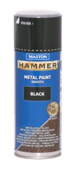 Spraypaint Hammer smooth black 400ml