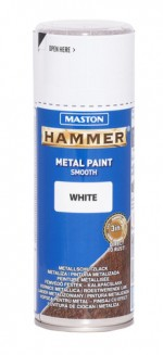 Spraypaint Hammer smooth white 400ml