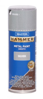 Spraypaint Hammer smooth silver 400ml