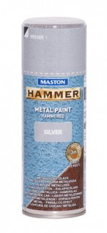 Spraypaint Hammer hammered silver 400ml
