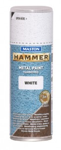 Spraypaint Hammer hammered white 400ml