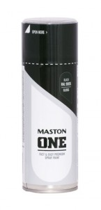 Spraypaint ONE - Gloss black RAL9005 400ml