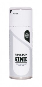Spraypaint ONE - Gloss white RAL9010 400ml