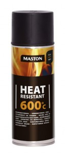 Spraypaint Heat resistant +600°C black 400ml