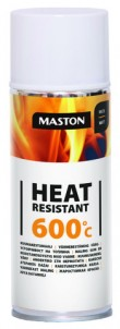 Spraypaint Heat resistant+600°C white 400ml
