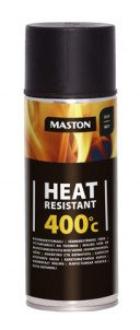 Spraypaint Heat resistant +400°C black 400ml