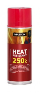 Spraypaint Heat resistant +250°C red 400ml