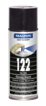 Spraypaint 100 Gloss Black 122 400ml RAL9005