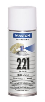 Spraypaint 100 White Matt 221 400ml RAL9010M