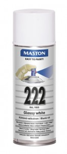 Spraypaint 100 Gloss White 222 400ml RAL9010