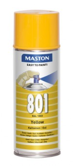 Spraypaint 100 Yellow 801 400ml RAL1003