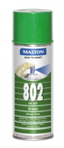 Spraypaint 100 Green 802 400ml RAL6029