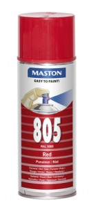 Spraypaint 100 Red 805 400ml RAL3000