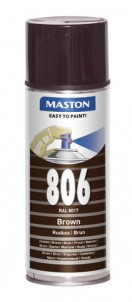 Spraypaint 100 Brown 806 400ml RAL8017