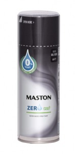 Spraypaint Zero Black matt RAL9005 400ml