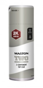 Sprayfärg Maston 2K Two Pebble Grey RAL7032 400ml