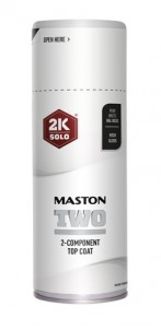 Sprayfärg Maston 2K Two Pure White RAL9010 400ml