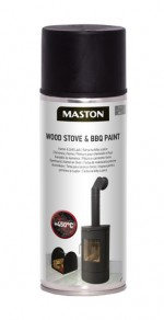 Spraypaint Wood Stove & BBQ Black 450°C 400ml
