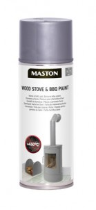 Spraypaint Fireplace and oven paint Grey 450C 400ml