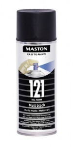 Spraypaint 100 Matt Black 121 400ml RAL9005M