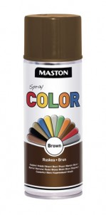 Spraypaint Color Brown Gloss 400ml