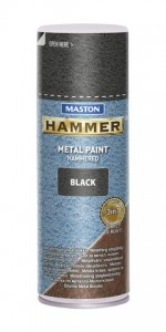 Spraypaint Hammer hammered black 400ml